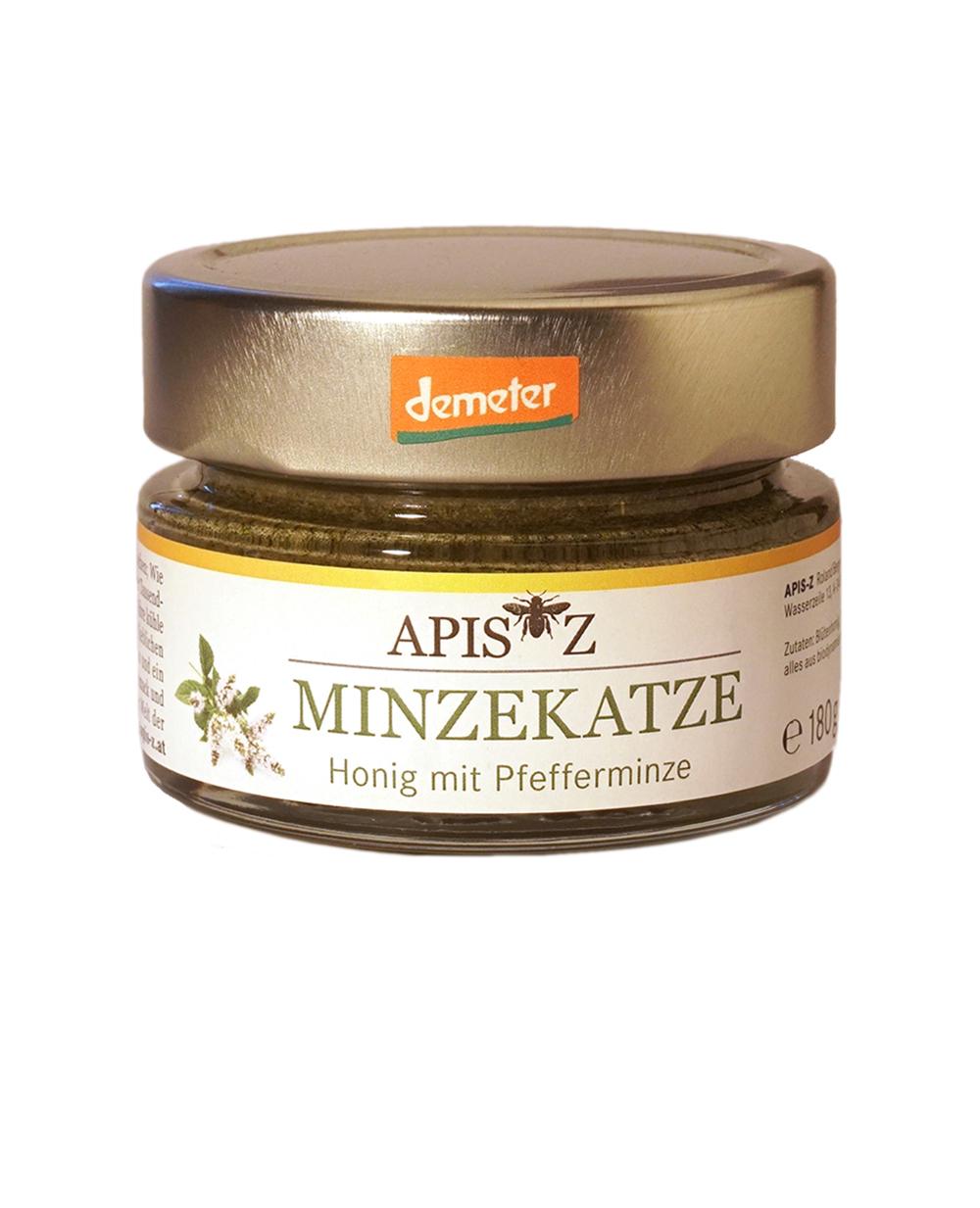 MINZEKATZE - Bio-Honig mit Pfefferminze